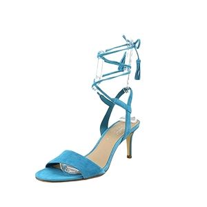 Lord & Taylor | Giovanna Lace-Up Slingback Heels